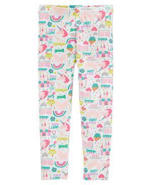 Carter's Girl Power Unicorn Leggings - Pink