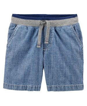Carter's Easy Pull-On Chambray Dock Shorts - Blue