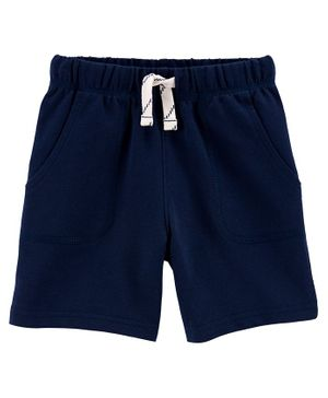 Carter's Pull-On French Terry Shorts - Navy