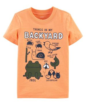 Carter's hings In My Backyard Slub Jersey Tee - Orange
