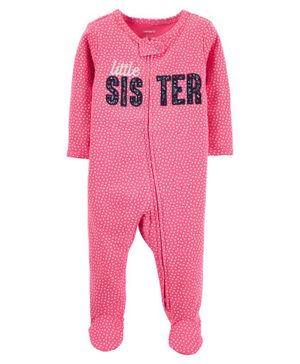 Carter's Little Sister 2-Way Zip Cotton Sleep & Play - Pink
