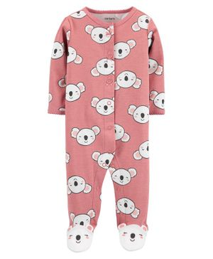 Carter's Koala Snap-Up Cotton Sleep & Play - Pink