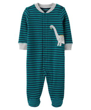 Carter's Dinosaur Snap-Up Cotton Sleep & Play - Green