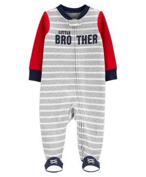 Carter's Little Brother 2-Way Zip Sleep & Play - Grey Red