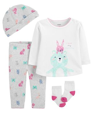 Carter's 4-Piece Bear Take-Me-Home Set - Grey