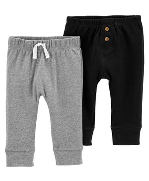 Carter's 2- Pack Infant Leggings - Grey Black