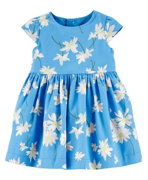Carter's Floral Sateen Dress - Blue