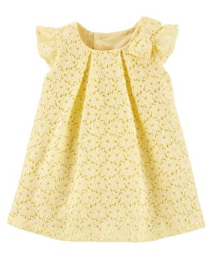 Carter's Floral Lace Holiday Dress - Yellow
