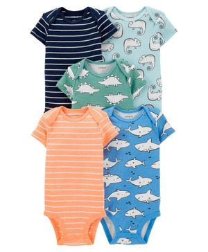 Carter's 5-Pack Animals Original Bodysuits - Multicolor