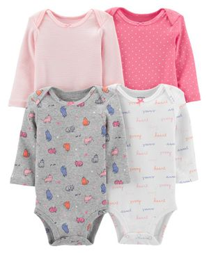 Carter's 4-Pack Cats Original Bodysuits - Multicolor