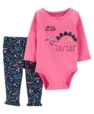 Carter's 2-Piece Dinosaur Bodysuit Pant Set - Multicolor