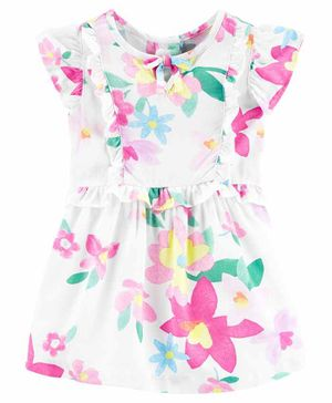 Carter's Floral Cap Sleeves Dress with Bloomer - Multicolor