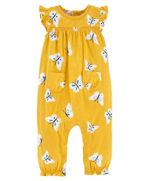 Carter's Butterfly Jersey Jumpsuit - Yellow