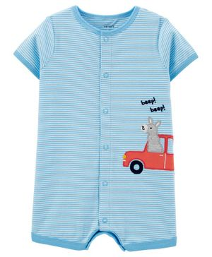 Carter's Llama Car Snap-Up Romper - Blue
