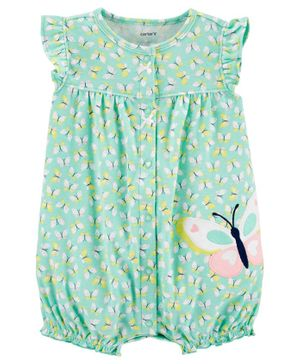 Carter's Butterfly Snap-Up Romper - Blue