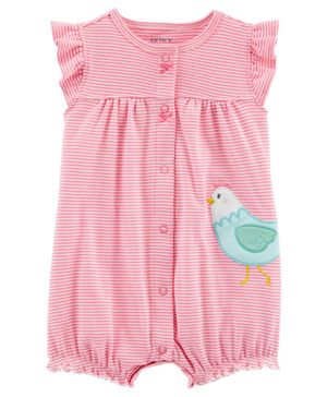 Carter's Chicken Snap Up Romper - Pink