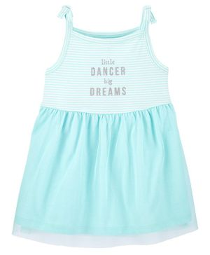 Carter's Striped Dancer Tutu Dress with Bloomer - Green
