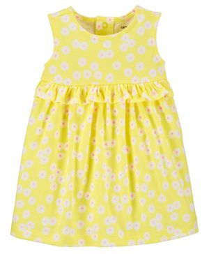 Carter's Floral Jersey Dress - Yellow