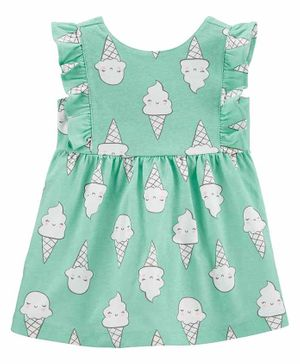 Carter's Ice Cream Cone Jersey Dress - Blue