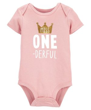 Carter's 1st Birthday Collectible Bodysuit - Pink