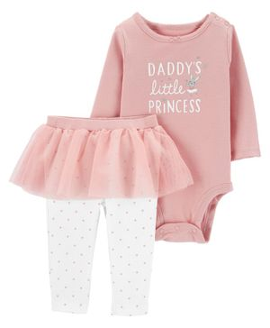 Carter's 2-Piece Princess Bodysuit & Tutu Pant Set - Multicolor