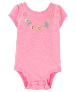Carter's Seashell Necklace Bodysuit - Pink