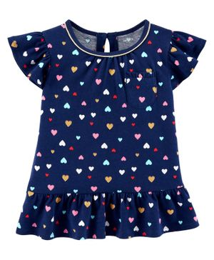 Carter's Heart Peplum Top - Blue