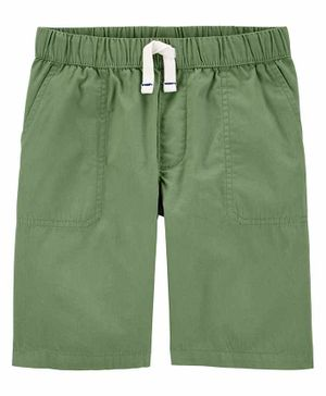 Carter's Pull-On Poplin Shorts - Olive Green