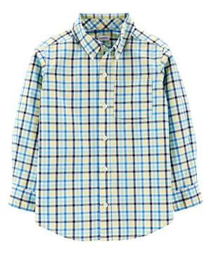Carter's Full Sleeves Checked Shirt  - Blue