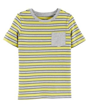 Carter's Striped Pocket Jersey Tee - Yellow