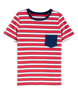 Carter's Striped Pocket Jersey Tee - Red