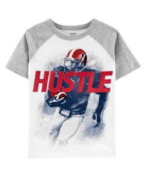 Carter's Hustle Football Raglan Tee - White