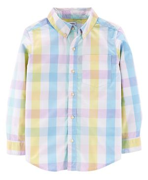 Carter's Full Sleeves Checked Shirt  - Blue Yellow