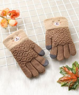 Babyhug Hand Gloves - Brown