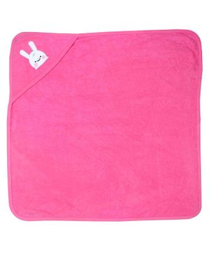 Morisons Baby Dreams Hooded Towel Bunny Patch - Pink