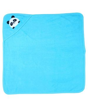 Morisons Baby Dreams Hooded Towel Panda Patch - Blue