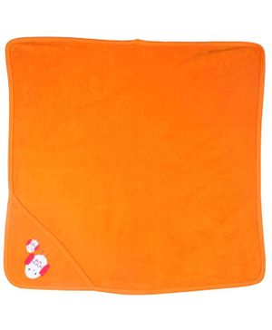 Morisons Baby Dreams Hooded Towel Bird Patch - Orange