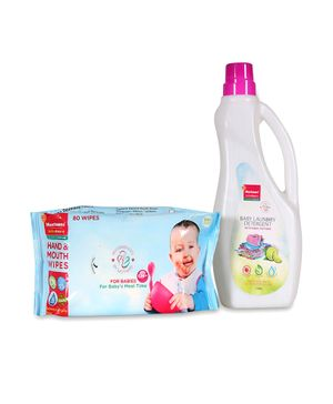 Morisons Baby Dreams Laundry Detergent & Baby Wipes Combo - 1 litre