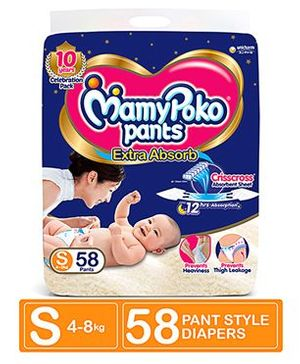 MamyPoko Pant Style Diapers Small - 58 Pieces