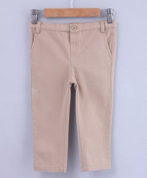 Beebay Solid Full Length Trousers - Beige