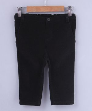 Beebay Solid Full Length Trousers - Black