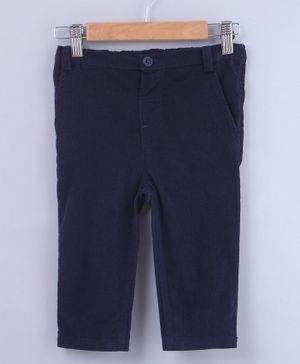 Beebay Solid Full Length Trousers - Navy Blue