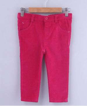 Beebay Solid Front Pocket Full Length Trouser - Pink