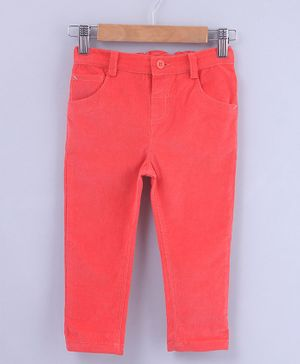 Beebay Solid Front Pocket Full Length Trouser - Peach