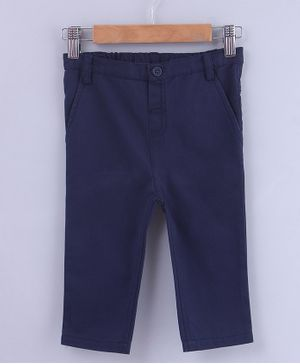 Beebay Solid Full Length Front Pocket Trouser  - Navy Blue