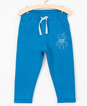 5.10.15 Octopus Print Full Length Front Pocket Lounge Pants - Blue