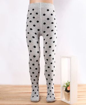 Mustang Footed Tights Dots Design - Grey