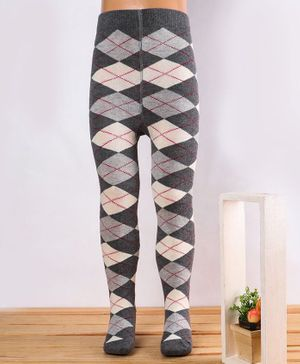 Mustang Footed Tights Abstract Design - Grey