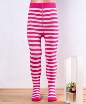 Mustang Tights Striped Pattern - Pink
