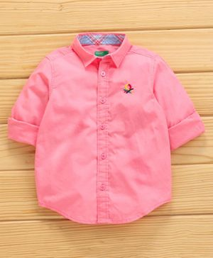 UCB Full Sleeves Shirt Solid Color - Pink